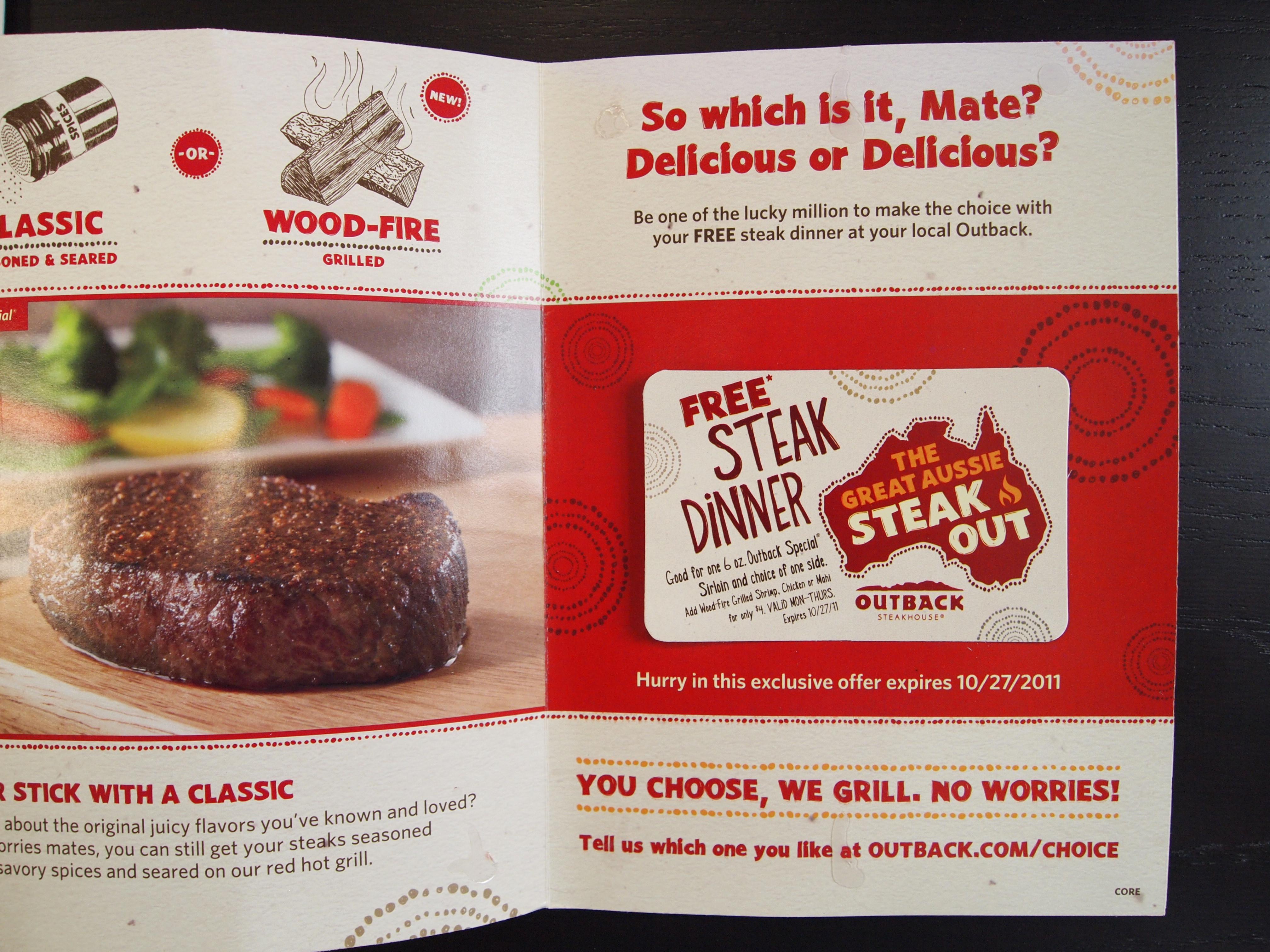 Free Steak.  $56.11.