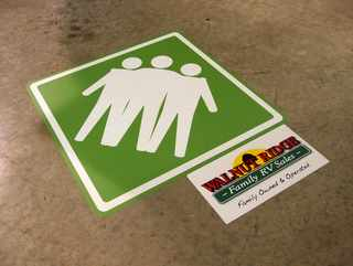 Family Owned and Operated Floor Graphics